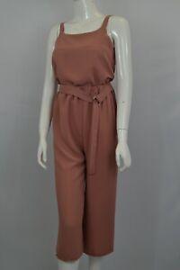 Women's Girls Two-Piece Pants & Top Culottes Set Co-ord Plain Colour Beige Rust