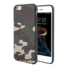 Camouflage Slim Full Cover Shockproof  Camo Pattern TPU Case For iPhone 6 7 Plus