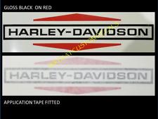 2 x 220mm HARLEY DAVIDSON Vintage style gas Tank decal sticker  Black +colours
