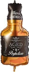 "34"" Bottle of Whisky Super Shape Mylar Foil Balloon Party Decoration"