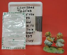 Cherished Teddies Good Fortune Is Found In A Kind Heart Figurine 117939