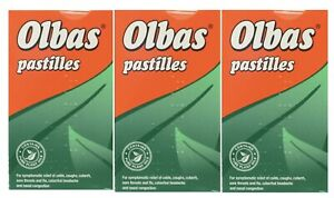 3x Olbas Pastilles 45g Clears the Head, Soothes the Throat