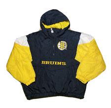 Vintage 1990s Logo 7 NHL Boston Bruins Script Logo Parka Piffer Jacket Size XL