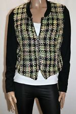 KATIES Brand Multi Check Long Sleeve Boucle Ponte Zip Jacket Size 12 BNWT #JA55