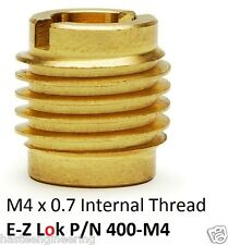 E-Z Lok P/N 400-M4, M4 Threaded Brass Insert For Wood  (10 Pieces)