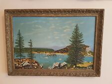 Vintage Oil Painting On Canvas 'Scottish Landscape' Signed By D. C. Hendry -1958