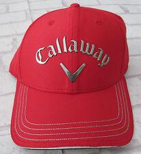 Callaway ODYSSEY Liquid Metal Adjustable Tour Golf Cap - One Size - Red - BNWT