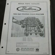 Brillion Repair Parts Catalog Manual Wm 360 Folding Pulvi Mulcher With4 Models