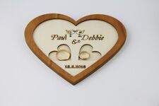 Personalized  , Wedding Ring Holder , Ring dish,Wedding Ring Tray , Heart Shape