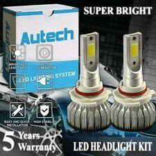 Pair 9005 HB3 cob LED headlight lamp bulb conversion kit HID white 6000K fanless