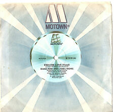 """DIANA ROSS AND LIONEL RICHIE - ENDLESS LOVE (MOVIE) - 7"""" 45 VINYL RECORD 1981"""
