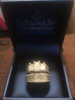 4.18 Ct Emerald Diamond White Gold Engagement & Wedding Ring 14k + Appraisal