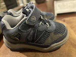 Stride Rite 360 toddler boy size 5 Blue Navy Hook And Loop Wide
