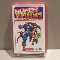 Vintage 1980s Waddington Super Top Trumps Marvel Super Heroes RARE