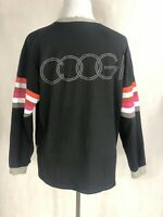 Coogi Black Multi Stripe Crewneck Sweatshirt Men's XL PreOwned