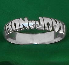 BON JOVI,name STERLING SILVER Ring,ANY SIZE