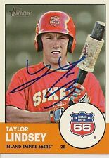 Taylor Lindsey 2012 Topps Heritage Signed Card