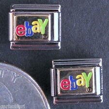 Ebay Logo 7 Italian Charm Lot Zoppini Stainless Steel Modular Links 2003 New