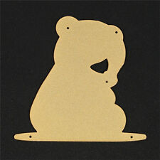 Gold Metal Bear Cutting Dies Stencil DIY Scrapbooking Diary Template Decor.
