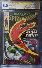 Amazing Spider-Man #77 CGC 8.0 SS Stan Lee Signature Series Marvel Comics 1969