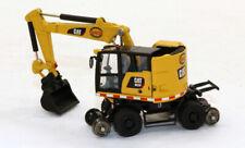 Custom Hulcher Caterpillar M323F Railroad MOW Wheeled Excavator 1/87 HO