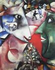 """I and The Village by Marc Chagall, 8""""x10.25"""", Giclee Canvas Print,"""