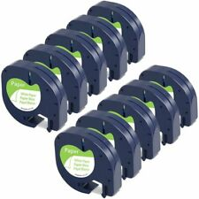 10pk Dymo Letratag Tape Refills 91330 12mm Compatible For Lt 100h White Paper