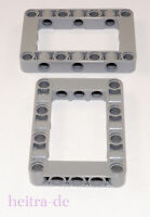 LEGO Technik - 2 x Liftarm / Verbinder / Block dick 5x7 hellgrau / 64179 NEUWARE