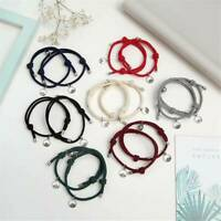 2pcs Attract Couples Bracelets Bracelet Rope Weaving Magnet Love Jewelry.