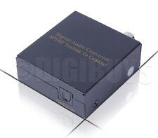 Digital Optical Toslink to Coaxial SPDIF Coax Signal Converter Adapter  Splitter