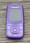 Samsung C300 Orange Network Purple Slide Mobile Phone - Untested