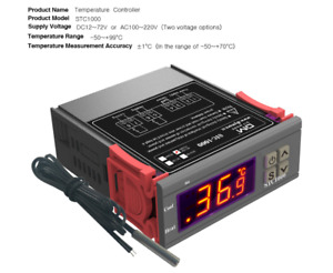 AC 110-220V STC-1000 Digital Temperature Controller Thermostat Aquarium Sensor
