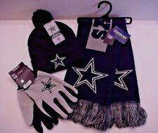 Dallas Cowboys Licensed NFL Authentic Team Logo Apparel Scarf Cap Gloves (BPBL)