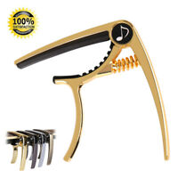 Donner Gold Metal Release Spring Trigger Capo For Acoustic/Electric Guitar US