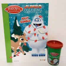 Christmas Rudolph Red-Nosed Reindeer BUMBLE Coloring Book Crayons Set Misfit