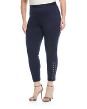 MICHAEL Michael Kors Plus Size 1X Ankle Laced Skinny Pant New Navy NWT