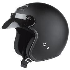 HELD Rune Jethelm Motorradhelm schwarz matt Gr. L = 59/60 Rollerhelm mit Schirm