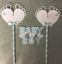 Cake Topper / Bunting, Baby Boy Gender   reveal,baby shower Handmade