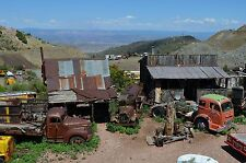 Old trucks in a mine town, Dodge, Chevy, ford 24X36 inch poster, sports car,