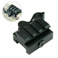 3Slots Quick Release Hunting Riser Mount QD Lever For 20mm Picatinny Rail RiflE*