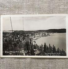 Vintage Post Card Goldfields Saskatchewan Canada 1940's Photo by C. Bruder