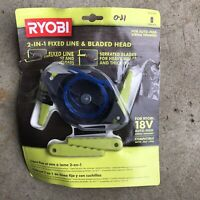 Ryobi 2 In 1 Pivoting Fixed Line & Bladed Head AC052N1 New 18V Auto Feed Trimme3
