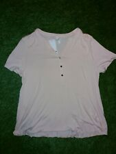 Bnwt New EVANS SIZE UK 20 PLUS SUMMER TOP BLOUSE NUDE COLOUR PINK £25 M