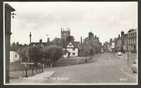 Postcard Marlborough Wiltshire view of The Green with signpost to Swindon RP