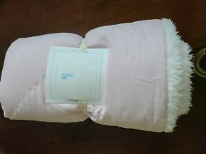 Pottery Barn Kids Quilted Sham Cozy Plus Sherpa Standard Pillow Red NEW NWT