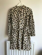 APC Gaberdine Leopard Dress, size S, excellent condition
