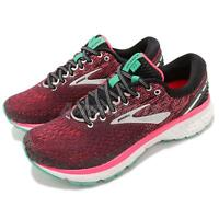 Brooks Ghost 11 D WIDE Black Pink Aqua Women Running Shoes Sneakers 120277 1D