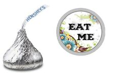EAT ME ALICE IN WONDERLAND HERSHEY KISS LABELS STICKERS BIRTHDAY PARTY FAVORS