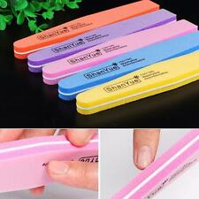 1/5/10Pcs Sponge Nail Art Tips Buffer 100/180 Sanding Block Buffing Files DIY