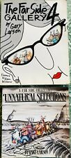 Lot of 2 The Far Side Cartoon Books, Gary Larson, Unnatural Selections, Gallery